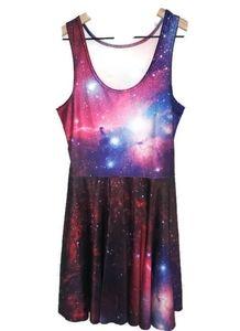 Galaxy Jumper Skater Dress M/L